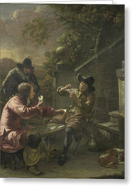 The Card Players, Johannes Natus Greeting Card