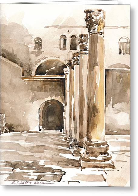 The Cardo In Jerusalem Greeting Card
