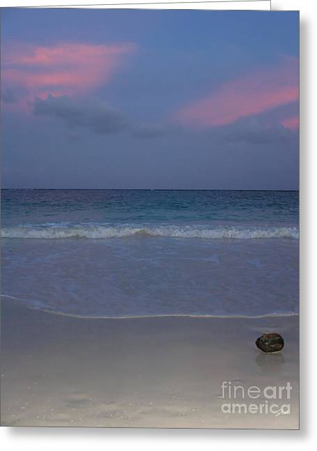 The Caribbean Sunset Greeting Card by Ze  Di