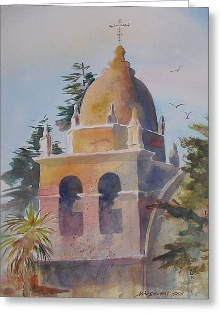 The Carmel Mission Greeting Card by John  Svenson
