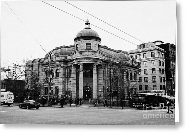 the carnegie centre community centre in the old carnegie library dtes Vancouver BC Canada Greeting Card
