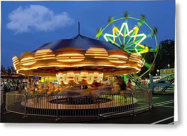 The Carnival Is In Town Greeting Card by Susan Candelario