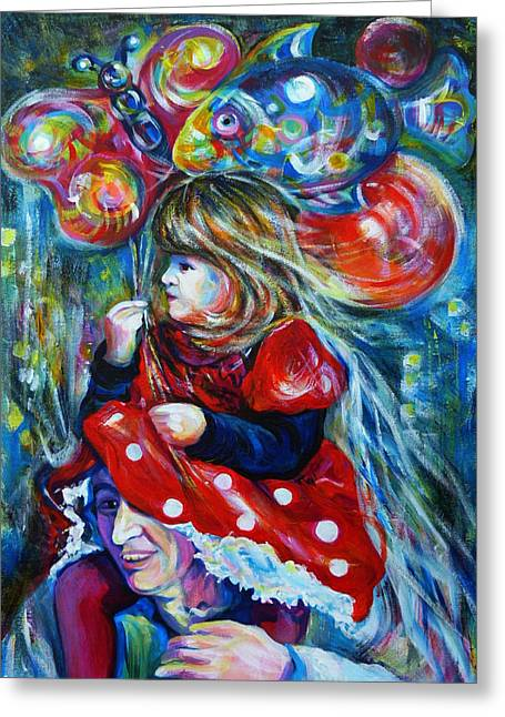 The Carnival Little Princess Greeting Card