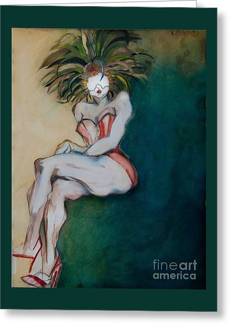 The Carnival Queen - Masked Woman Greeting Card