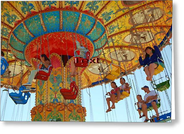 Greeting Card featuring the photograph The Carnival by Tamyra Crossley