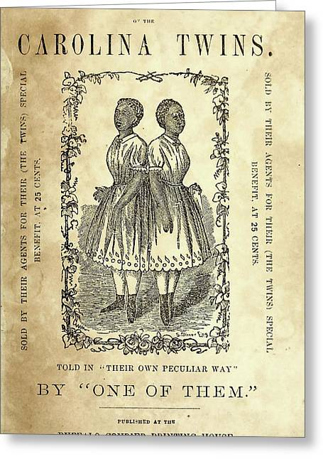 The Carolina Twins, C1869 Greeting Card by Granger