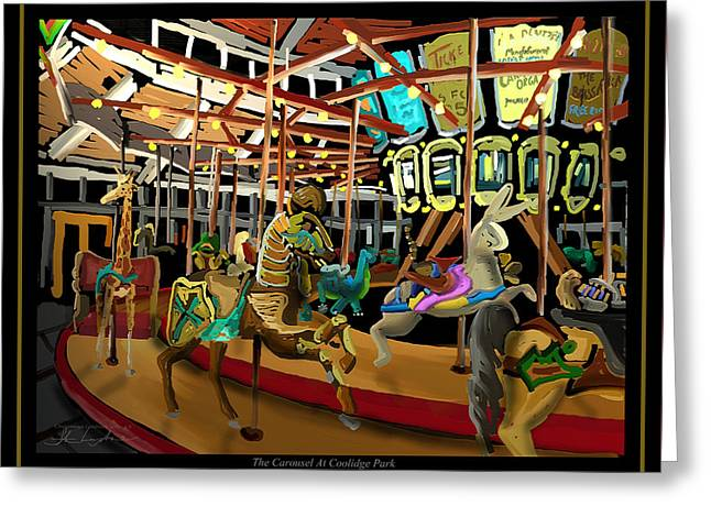 The Carousel At Coolidge Park - Chattanooga Landmark Series - #6 Greeting Card by Steven Lebron Langston
