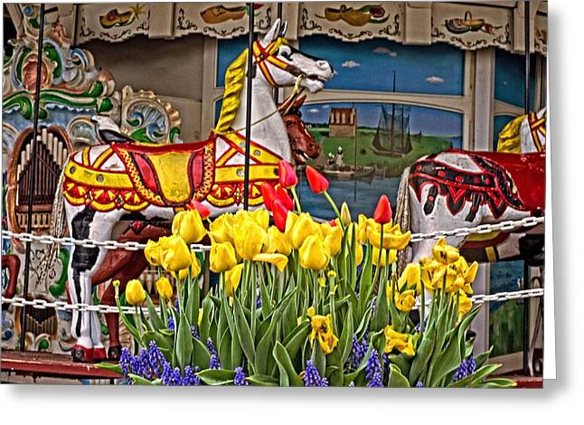 The Carousel Greeting Card by Cheryl Cencich