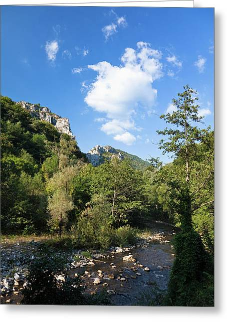 The Carpathian Mountains, Cerna Valley Greeting Card by Martin Zwick