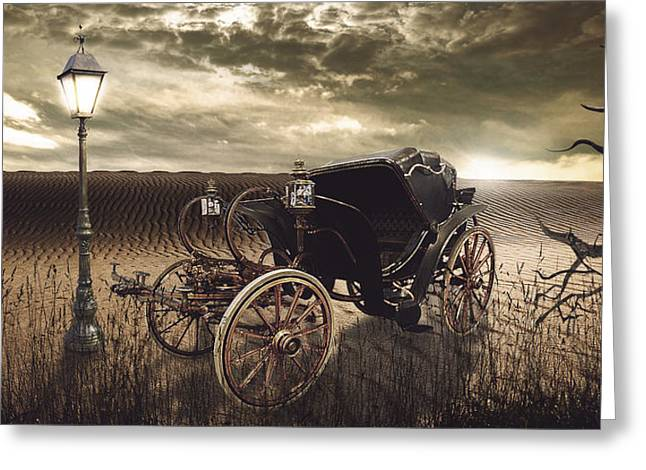 The Carriage In The Desert Greeting Card