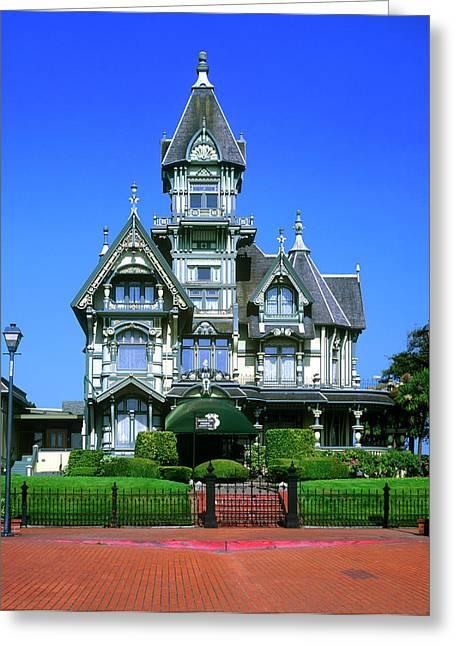 The Carson Mansion In Eureka, California Greeting Card by John Alves