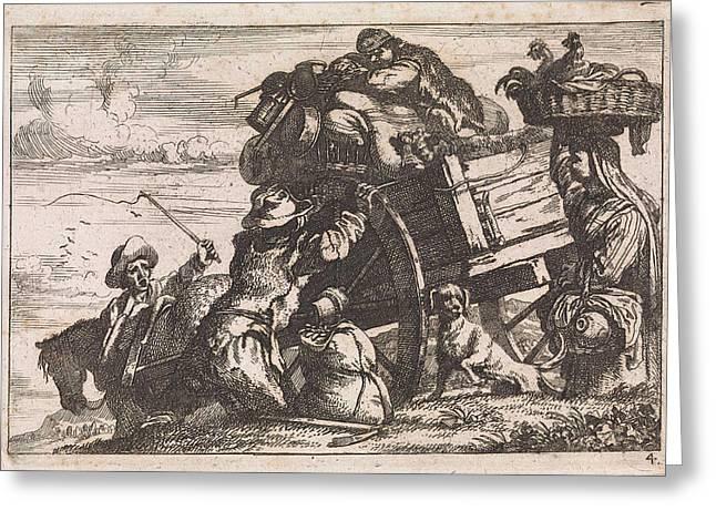 The Cart, Jan Baptist De Wael Greeting Card