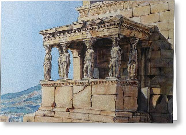 The Caryatid Porch Of The Erechtheion Greeting Card