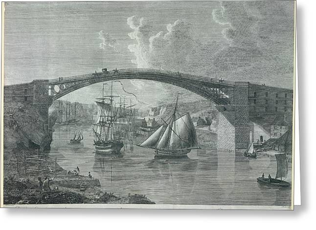 The Cast Iron Bridge Greeting Card by British Library