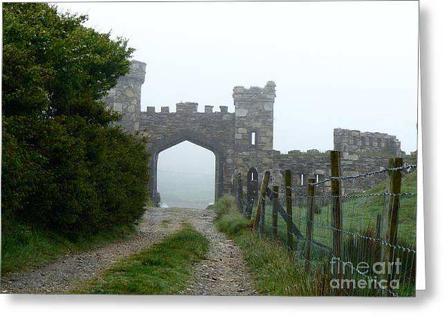 The Castle Gate Greeting Card by Butch Lombardi