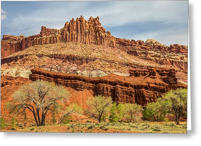The Castle In Capitol Reef National Park Greeting Card