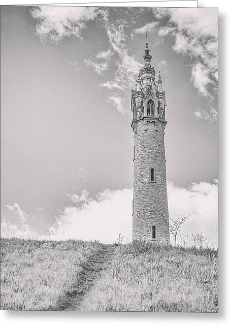 The Castle Tower Greeting Card by Scott Norris
