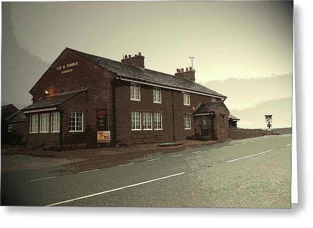 The Cat And Fiddle Public House, Pictured Here Greeting Card by Litz Collection