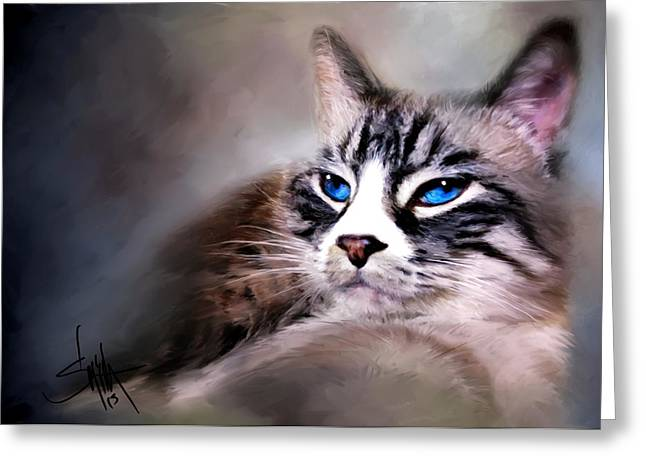 The Cat Greeting Card by Robert Smith