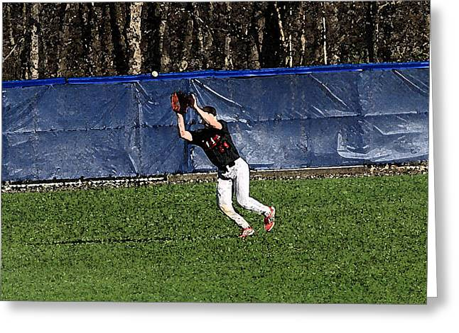 The Catch With Watercolor Effect Greeting Card by Frank Romeo