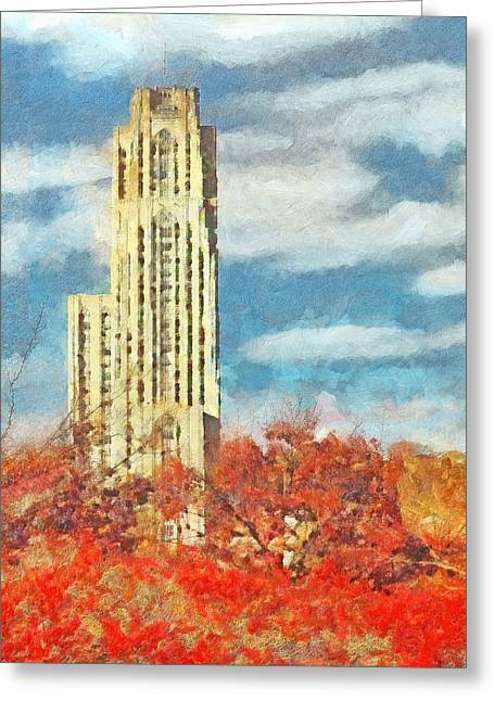 The Cathedral Of Learning At The University Of Pittsburgh Greeting Card