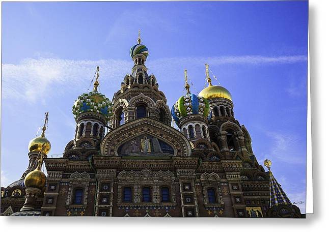 The Cathedral Of The Resurrection - St. Petersburg - Russia Greeting Card