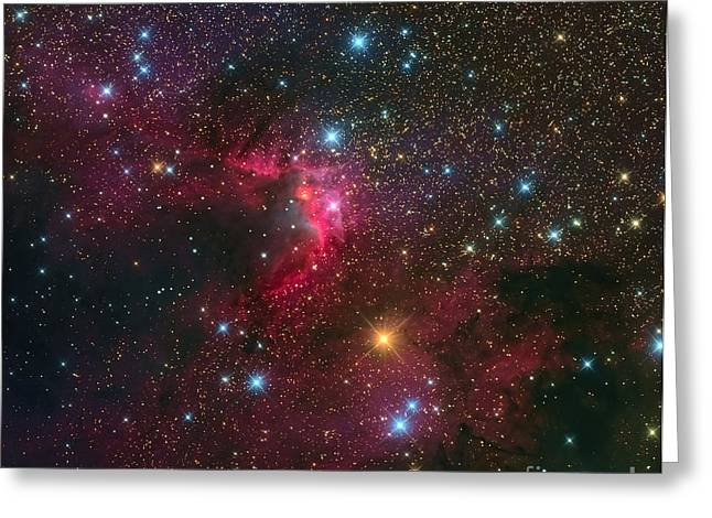 The Cave Nebula Greeting Card by Michael Miller
