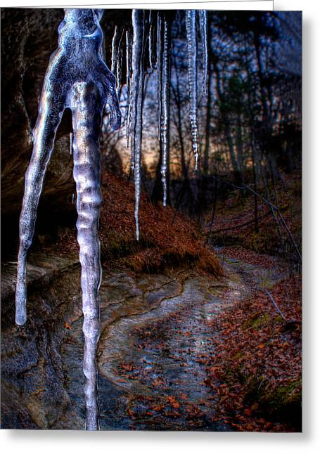 The Cave Of The Crystal Daggers Greeting Card