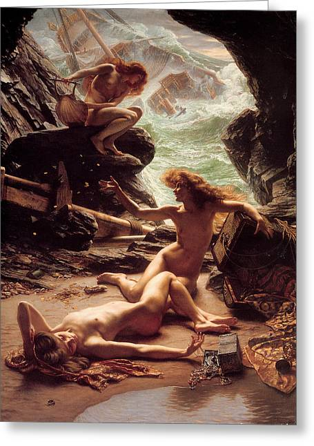 The Cave Of The Storm Nymphs Greeting Card by Sir Edward Poynter
