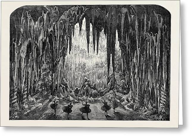 The Caverns Of Ice At The Alhambra Leicester Square London Greeting Card by English School