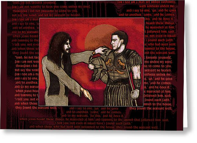 The Centurion Greeting Card by Christopher Korte