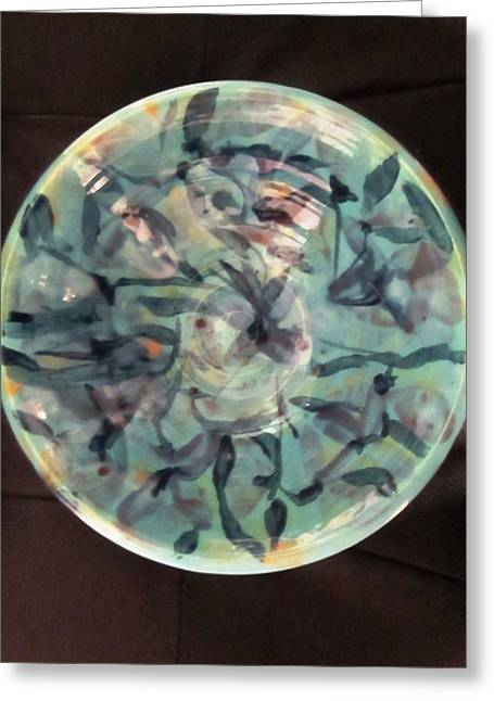 The Ceramic Bowl Greeting Card by Martha Nelson