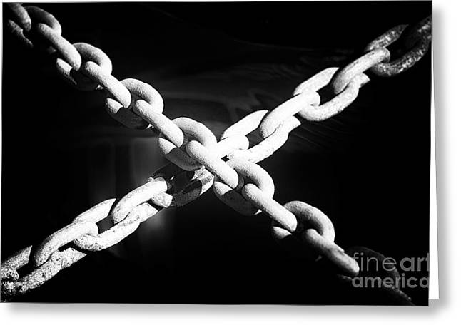 The Chain That Binds Us Greeting Card by John Rizzuto