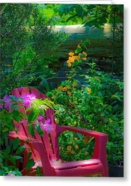Greeting Card featuring the photograph The Chair by Allen Biedrzycki