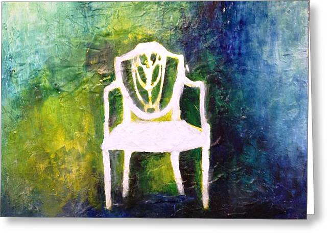 The Chair Greeting Card by Andrea Friedell