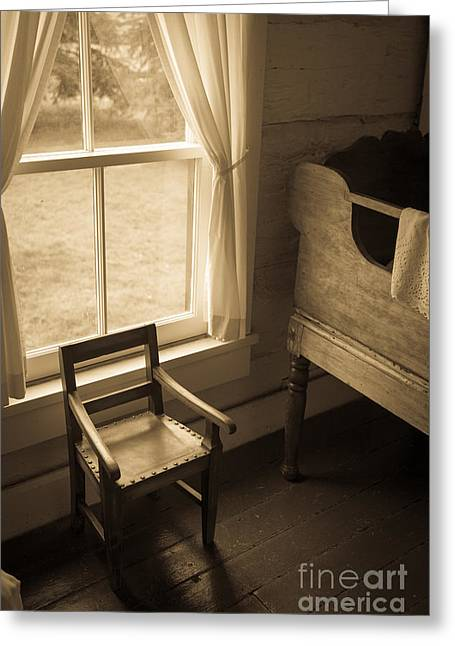 The Chair By The Window Greeting Card