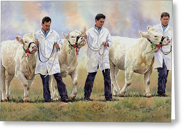 The Champions Greeting Card by Anthony Forster