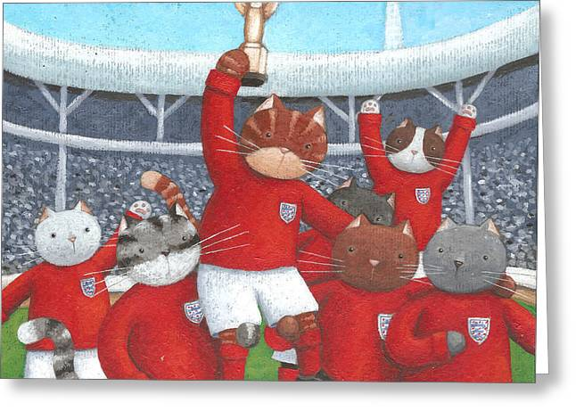 The Champions Greeting Card by Peter Adderley