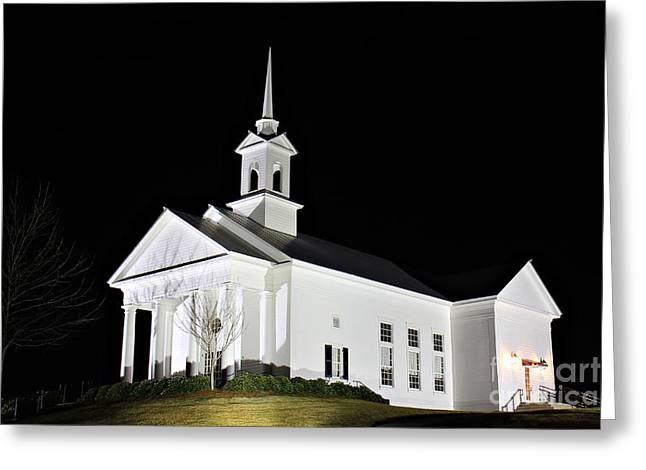 The Chapel Greeting Card by Leslie Kirk
