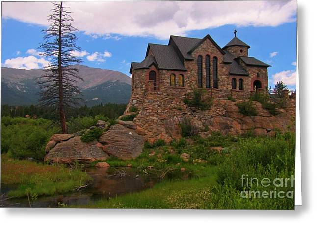 The Chapel On The Rock Greeting Card by John Malone