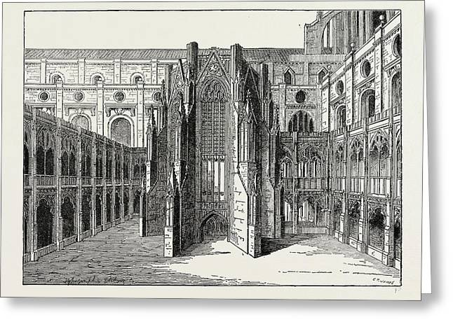 The Chapter House Of Old St. Pauls Greeting Card
