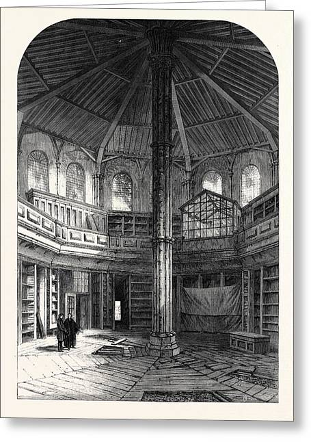 The Chapter House Westminster Abbey London Uk 1866 Greeting Card