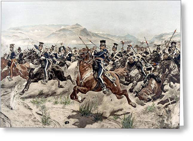 The Charge Of The Light Brigade, 1895 Greeting Card by Richard Caton Woodville