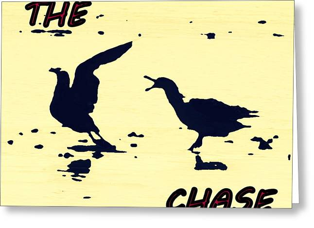 The Chase Greeting Card by Pamela Hyde Wilson