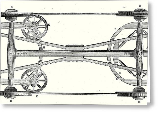 The Chassis Of A Flat Wagon With Arnouxs System Greeting Card by English School