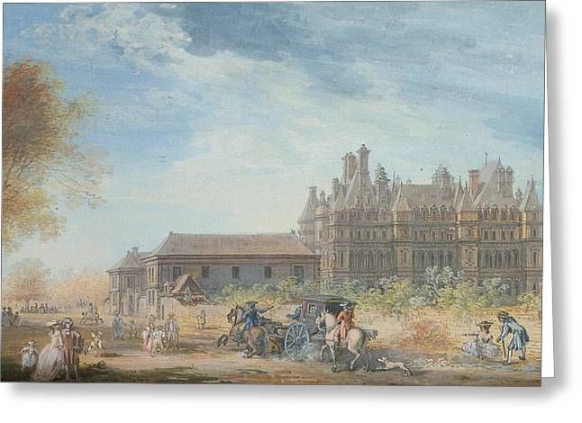 The Chateau De Madrid Greeting Card by Louis-Nicolas de Lespinasse