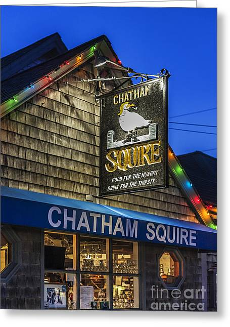 The Chatham Squire Greeting Card by John Greim