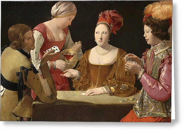 The Cheat With The Ace Of Clubs Greeting Card by Georges de La Tour