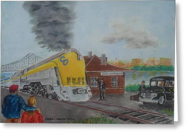The Chesapeake And Ohio George Washington At South Portsmouth Station Greeting Card