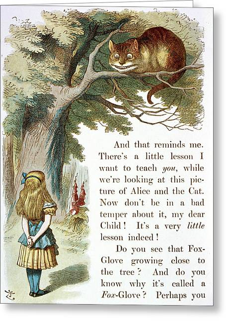 The Cheshire Cat Greeting Card by British Library